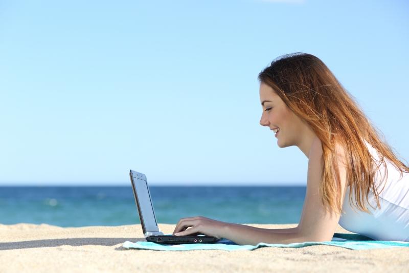 Affärsresenärer har svårt att släppa jobbet på semestern