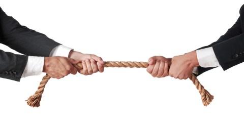 Framgångsrik förhandling öga mot öga